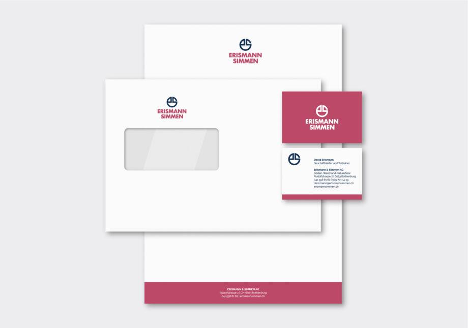 Referenz Branding CD Erismann & Simmen