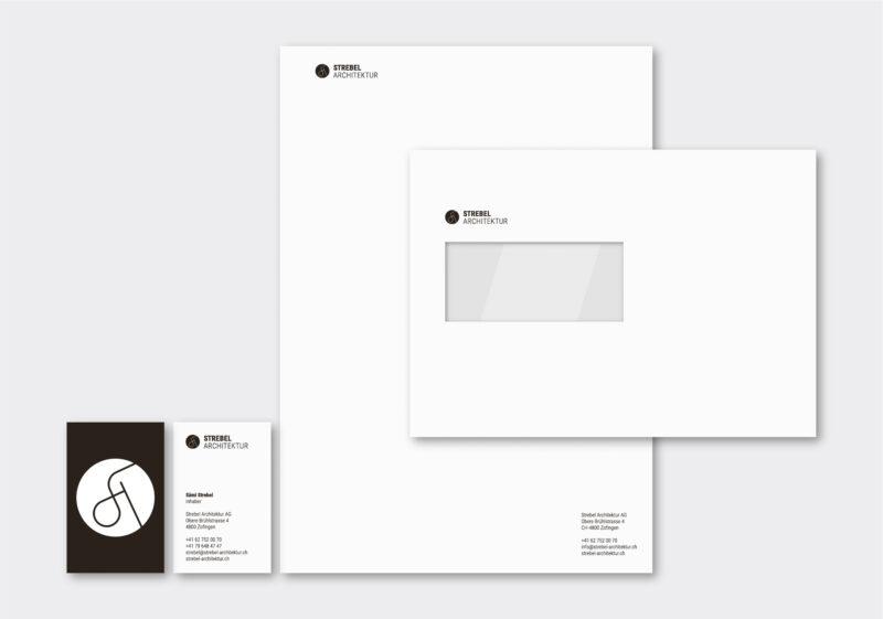 Referenz Branding CD Strebel Architektur