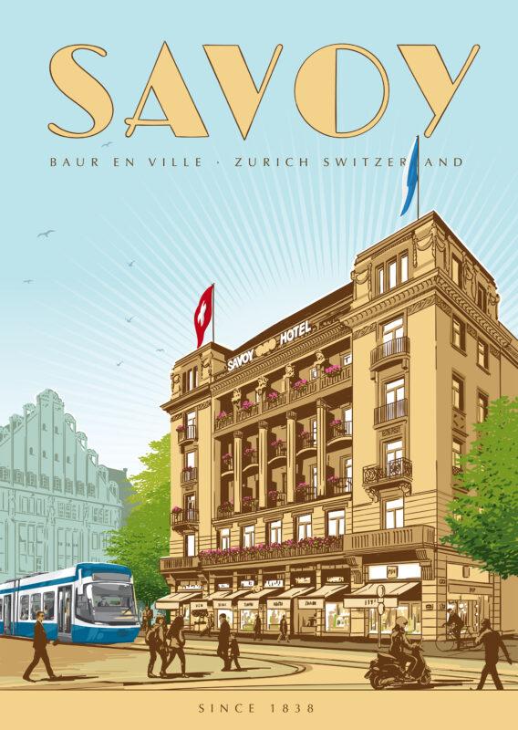 Referenz Illustration Rocket Savoy