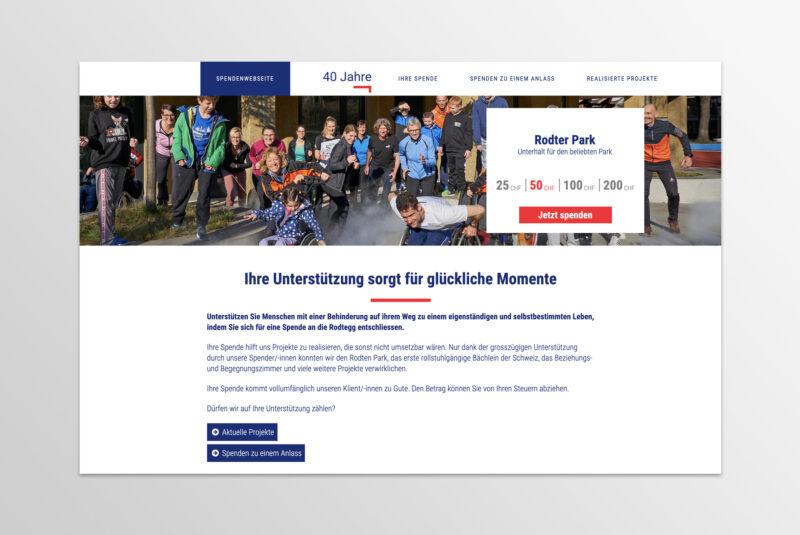 Blogbeitrag Spendenwebsite