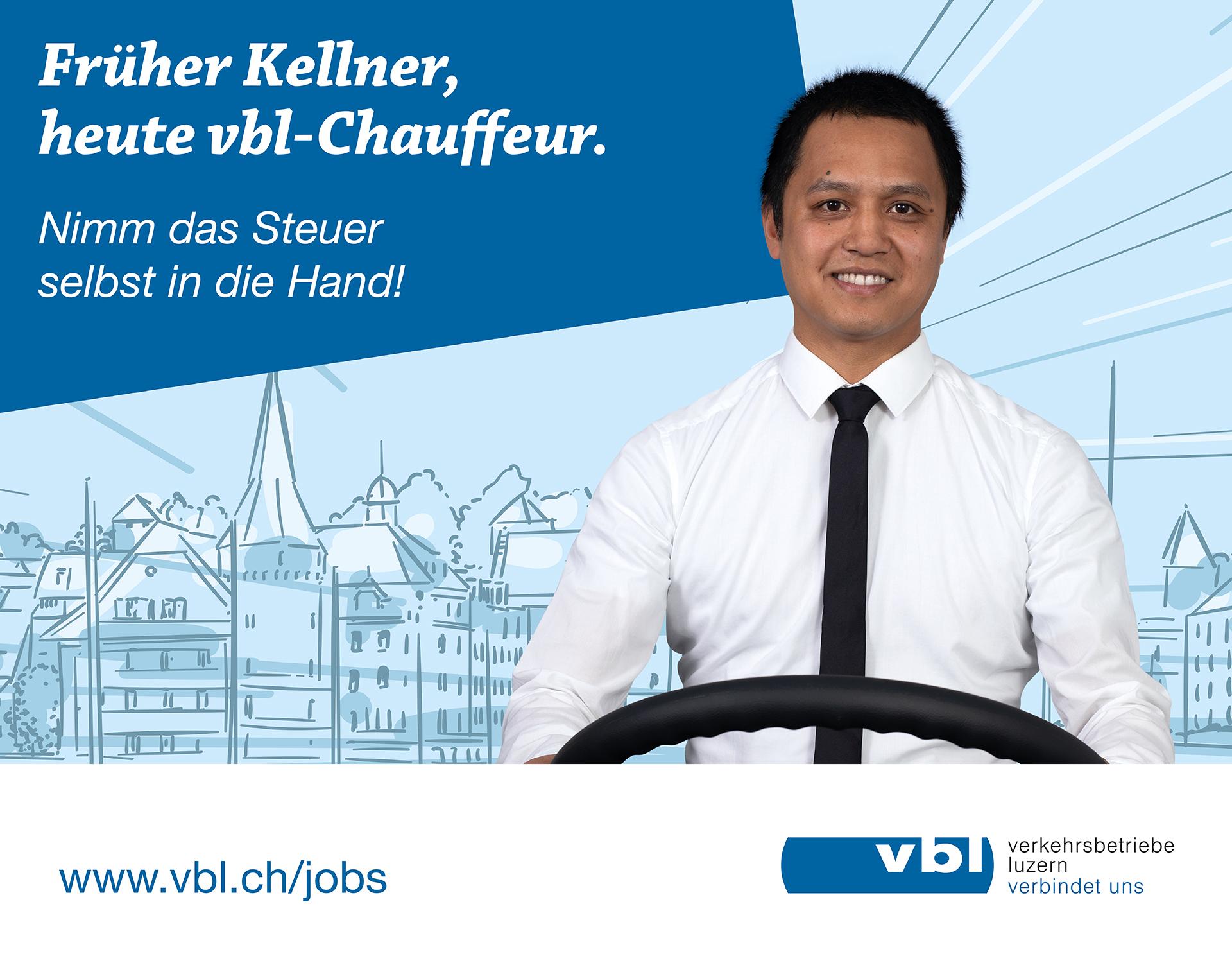 Früher Kellner, heute vbl-Chauffeur.
