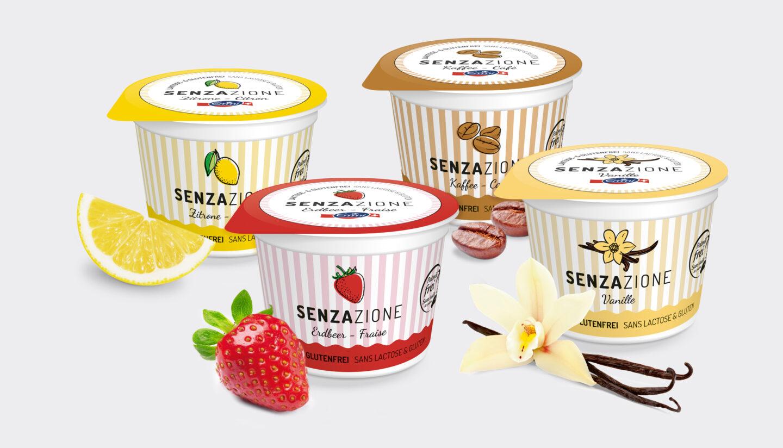 Referenz Verpackungsdesign Senzazione Emmi Yoghurts